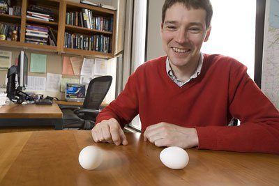 Jean-Luc Margot with spinning eggs