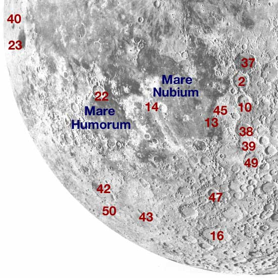 Moon southwest