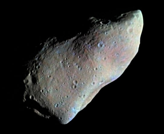 Asteroid Gaspra photographed by NASA's Galileo probe