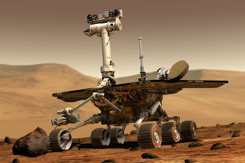 A rover on Mars