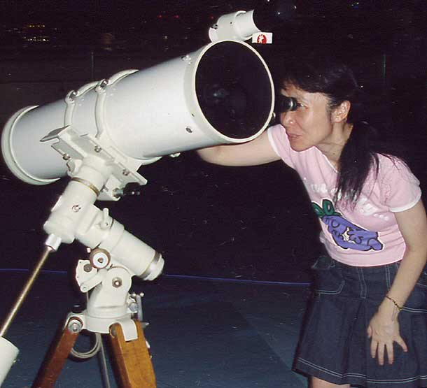 observing with a telescope in a handicap - 610×555