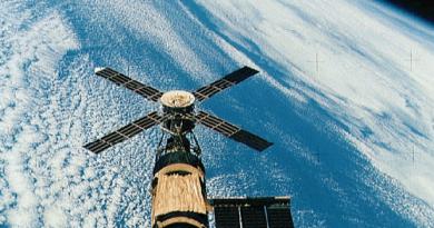 Skylab in orbit.