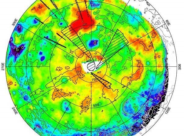 New Venus Express map of southern hemisphere