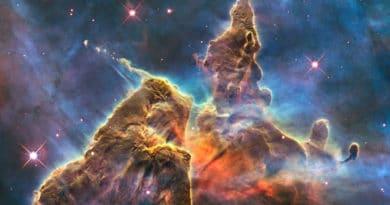 Hubble's anniversary photo of the Carina Nebula