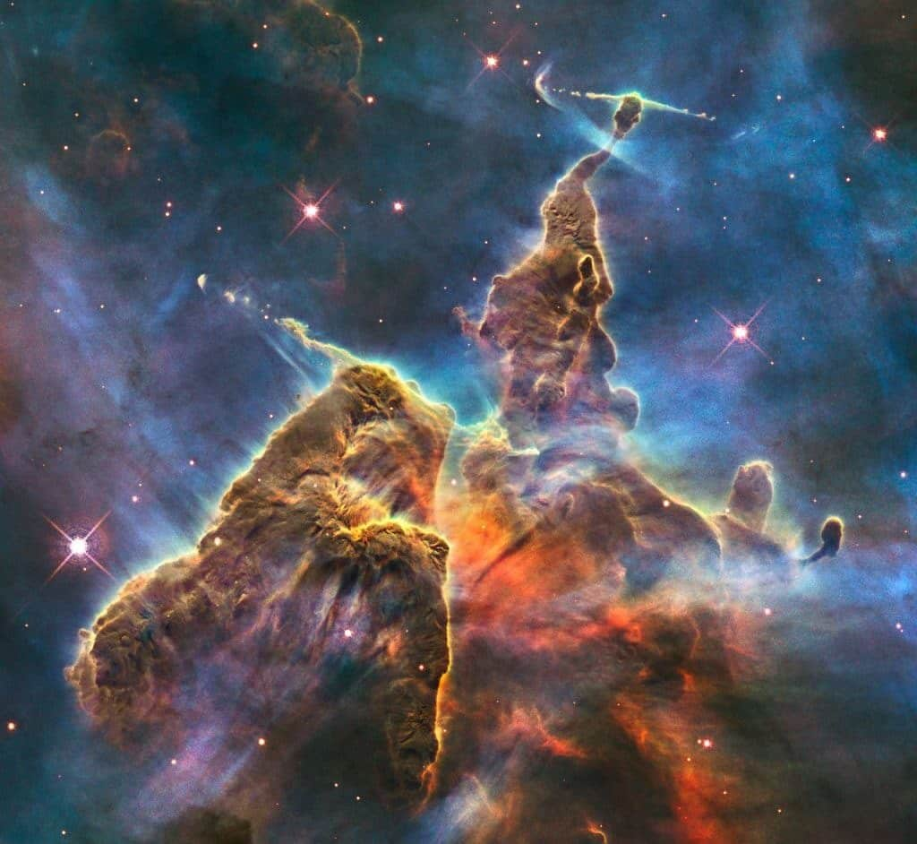 Hubble's anniversary photo of the Carina Nebula