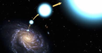 High-speed star's route (NASA/ESA)