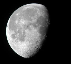 Moon showing dark lunar seas
