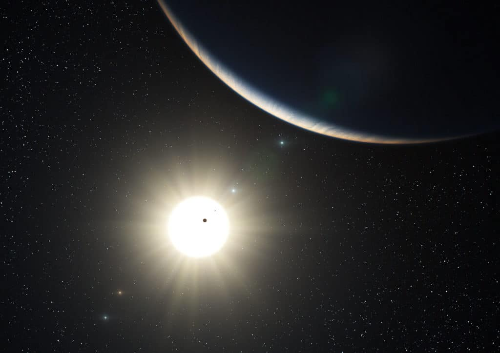 Artist's impression of new solar system