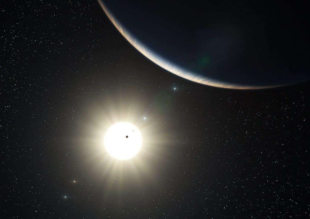 Artist's impression of new solar system