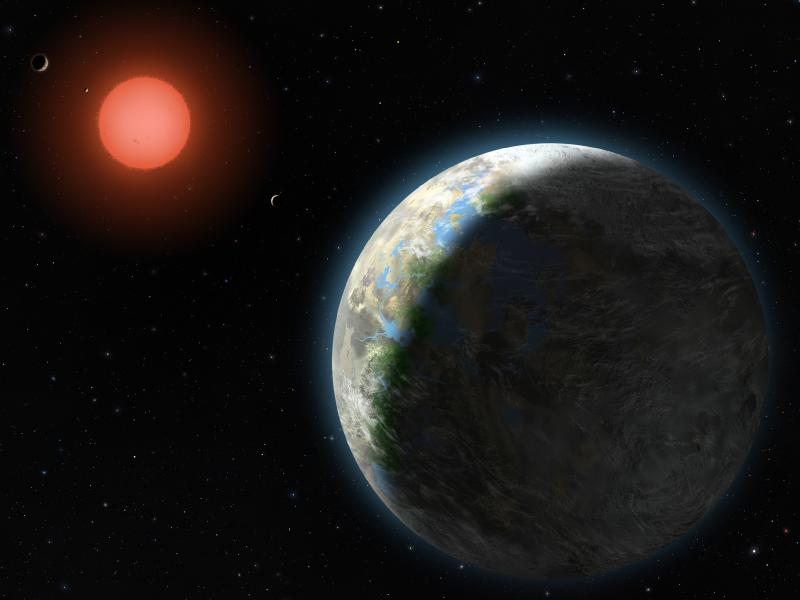 Artist's impression of new planet Gliese 581g