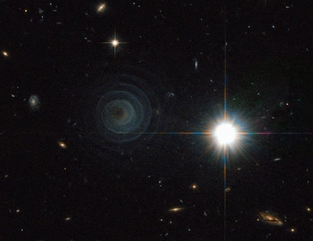 Ghostly spiral pictured by Hubble
