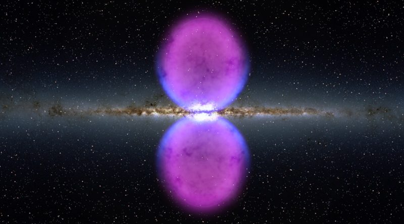 Impression of bubbles from galaxy's heart