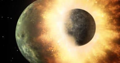 Artist's impression of planetary impact
