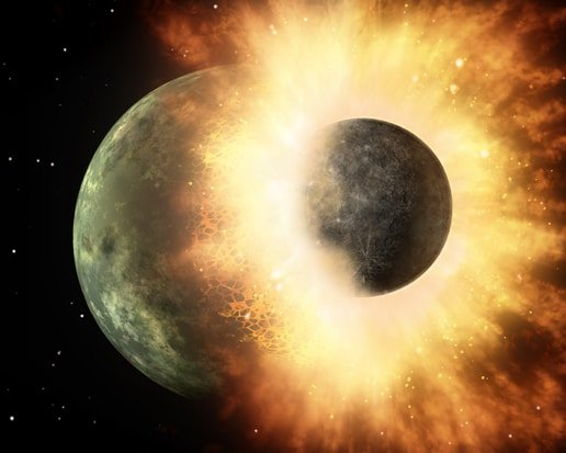 Artist's impression of planetary impact