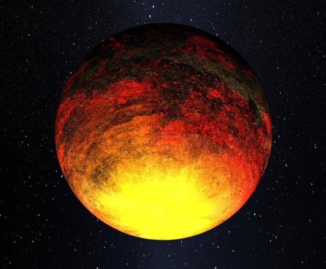Artist's impression of planet Vulcan