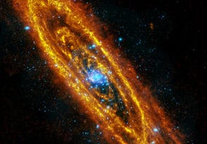 Combined image of Andromeda Galaxy