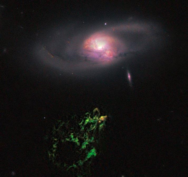 Hubble photo of Hanny's Voorwerp (NASA/ESA)