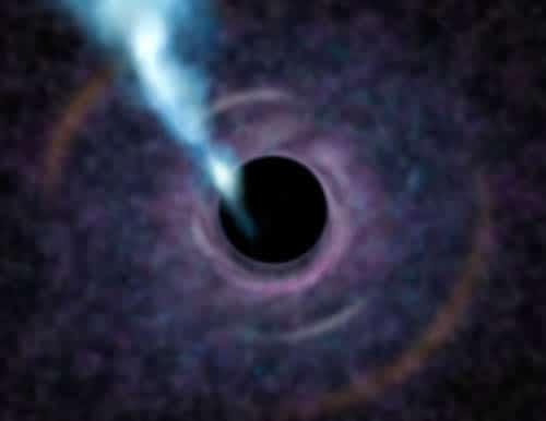 Artist's impression of black hole