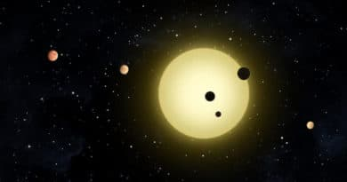 Impression of new planetary system