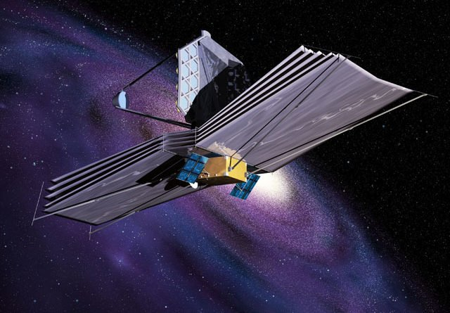 Artist's impression of James Webb space telescope in operation