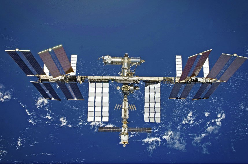 International Space Station viewed from a shuttle