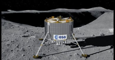 ESA's proposed Lunar Lander at the South Pole of the Moon. Image credit: ESA