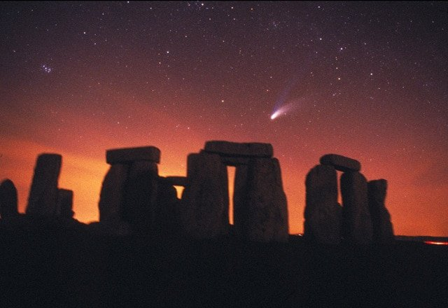 Comet Hale-Bopp over Stonehenge