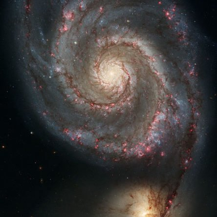 Hubble image of the spiral galaxy M51