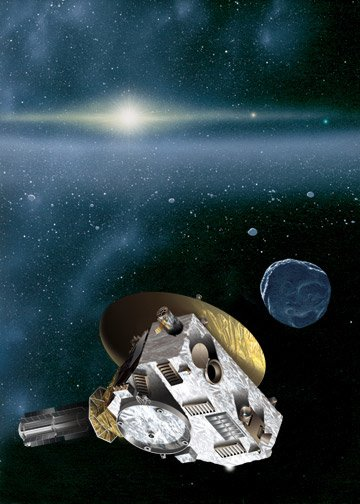 An impression of New Horizons' encounter with a KBO (NASA)
