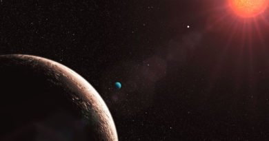 An artist imagines a solar system like the new planet's (ESO)