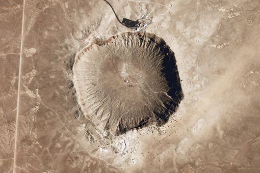 The 50,000 year old Meteor Crater in Arizona.