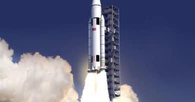 Artist's impression of the SLS rocket launching