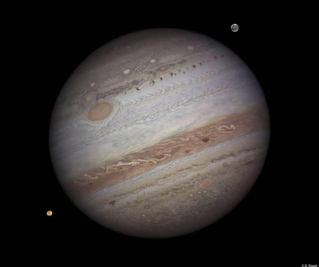 Damian's winning photo of Jupiter, Ganymede and Io