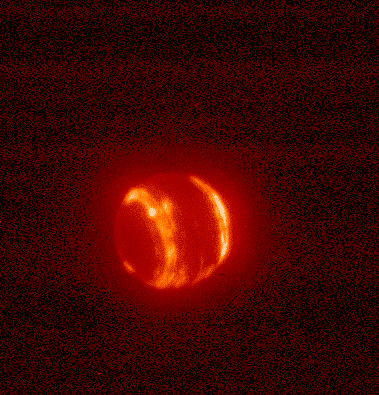 Infrared image of Neptune