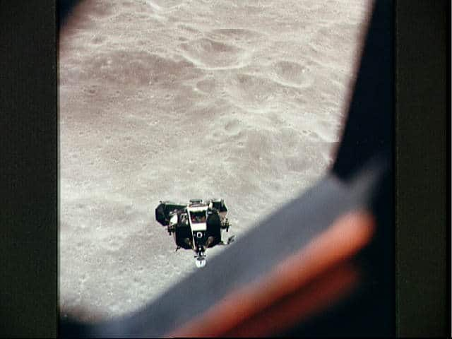 Snoopy viewed from command module Charlie Brown