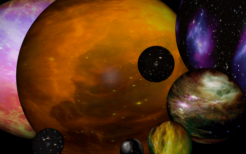 An artist's impression of a multiverse