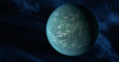 A NASA artist's conception of Kepler-22b