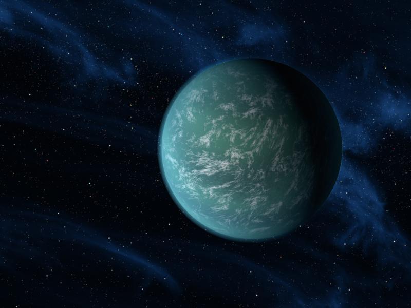A NASA artist's conception of Kepler-22b