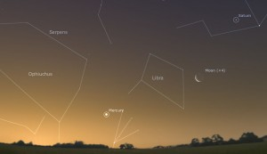 Where to find Mercury around December 21