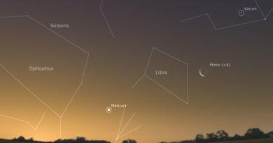 Where to find Mercury around December 21