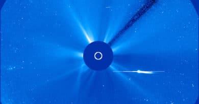 Comet Lovejoy caught by SOHO's Lasco 3 camera (NASA)