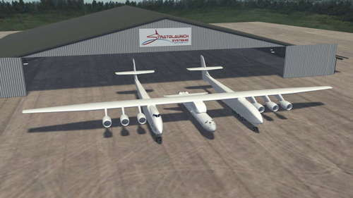 Artists's impression of new launch aircraft on the ground