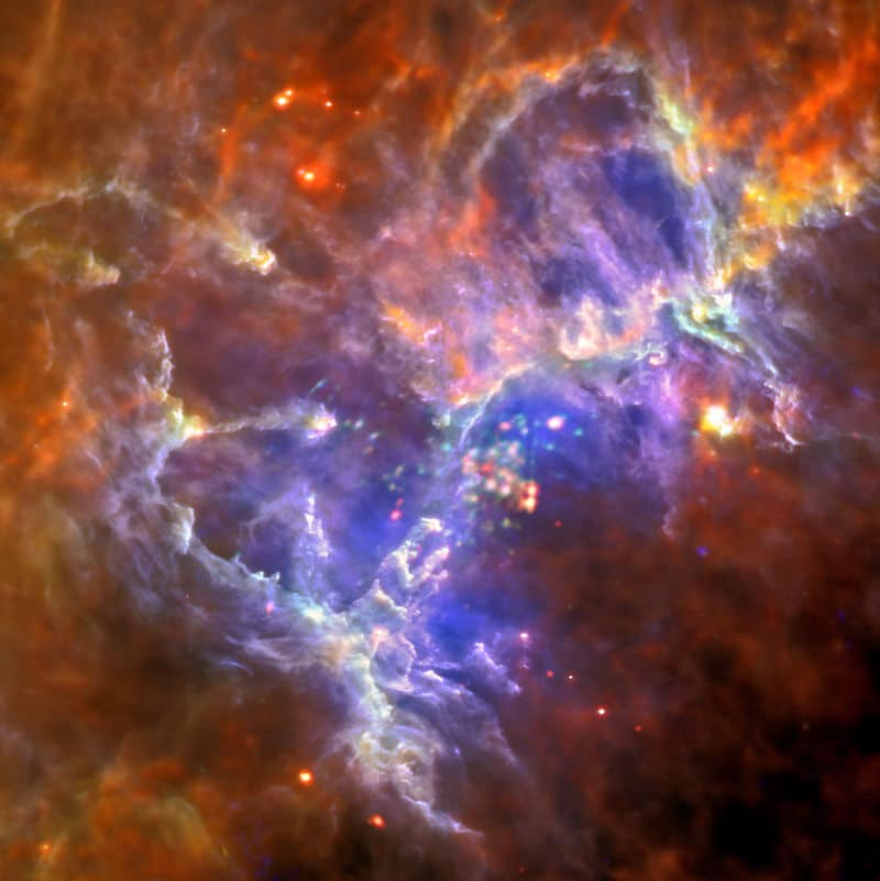 The new image produced by Herschel and XMM-Newton