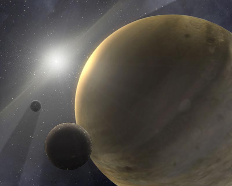 Habitable Moons Gas Giant Rocky Moons Orbit a Gas Giant
