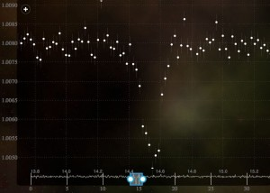 A Planet-Hunters light-curve reveals a transit