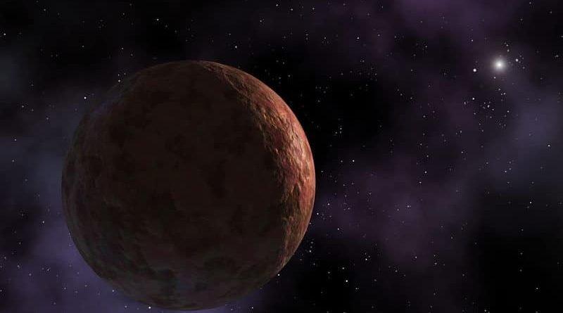 An artist imagines a distant trans-Neptunian object