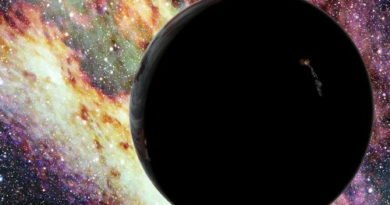 An artist imagines a hypervelocity planet. Credit: David A. Aguilar (CfA)