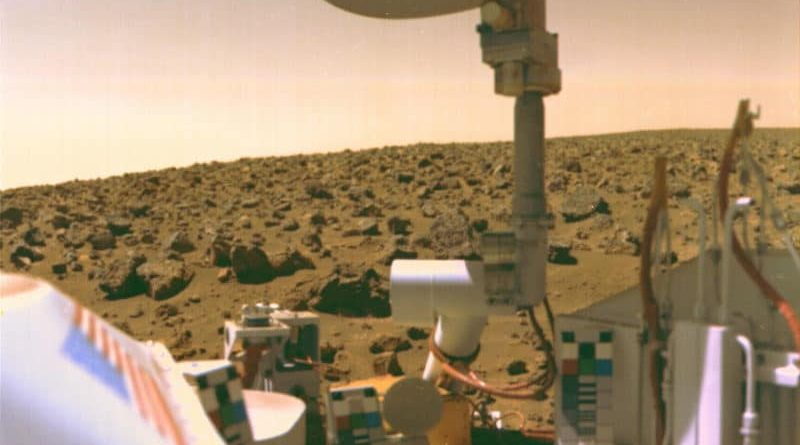 The Viking 2 lander on Mars