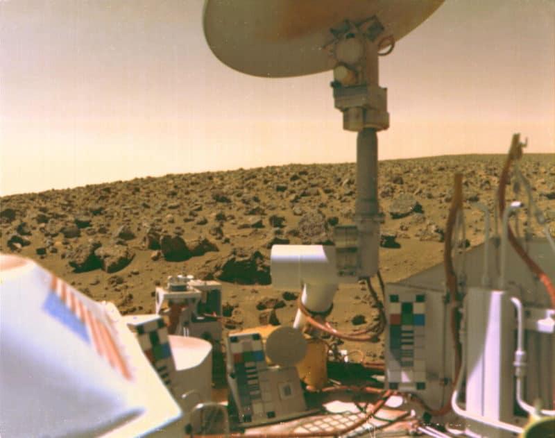 The Viking 2 lander on Mars