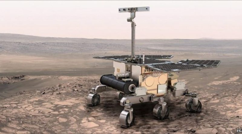 An impression of the ExoMars rover on the Red Planet
